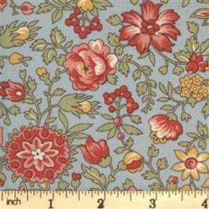 Moda Jardin De Fleurs in Gray Floral Fabric 0.5m