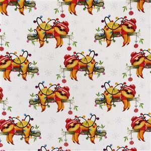 Christmas Sloth Fabric 0.5m