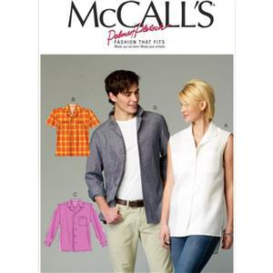 McCall's Women's & Men's Shirt Sewing Pattern Sizes XL - XXXL