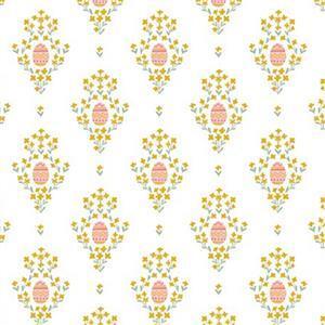 Riley Blake Easter Egg Hunt Royal Egg White Fabric 0.5m