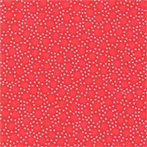 Moda Back Porch Red & White Dots on Red Fabric 0.5m