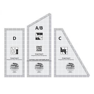 "Creative Grids® Non-Slip Scrap Crazy 20.3cm (8"") Template by Karen Montgomery."