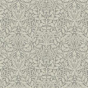 William Morris Mineral Grey Dence Floral Fabric 0.5m