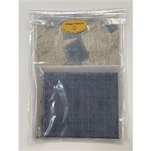 Village Fabrics - Blue Sandra Bag Kit