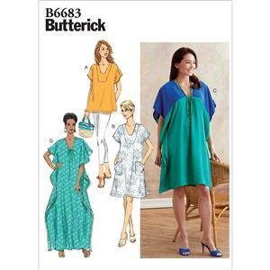Butterick Misses' Tunic and Caftan Pattern - Sizes XS-M