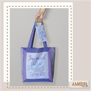 Amber Makes Rainbow Framed Tote Kit: Instructions & Fabric Panel