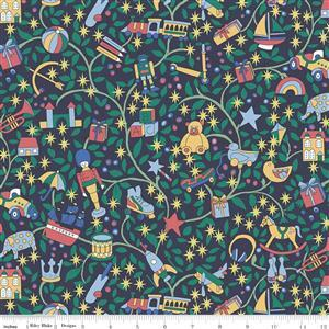 Liberty Merry & Bright Magical Forest Green Fabric 0.5m