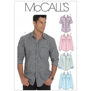 McCall's Mens Shirts Pattern: XL-XXXL