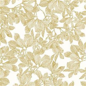 Riley Blake Castkata Classic Leaves Gold Fabric 0.5m