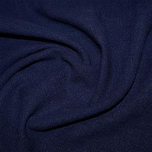 Navy 100% Stone Washed Linen 0.5m
