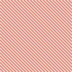 Riley Blake Idyllic Stripes Coral Fabric 0.5m