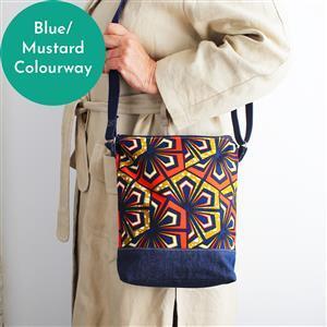 Sewgirl 3-in-1 Boho Bag Kit Blue/Mustard: Fabric & Instructions