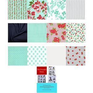 Delphine Brooks Aqua Moda Sunday Stroll Quilt Kit: Instructions & Fabric (6.5m).