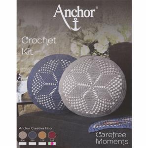 Anchor Carefree Moments Wine Crochet Cushion Kit