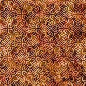 Dan Morris Adagio Rust Medallion Fabric 0.5m