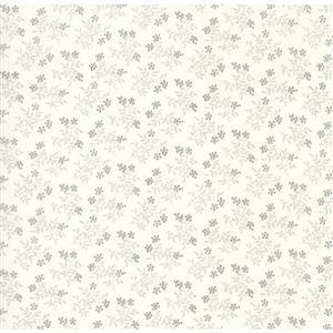 Moda Daybreak Misty Dawn-Silver on White Fabric 0.5m
