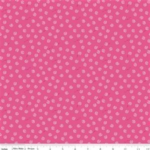 Riley Blake Chloe & Friends Yarn Ball Hot Pink Fabric 0.5m