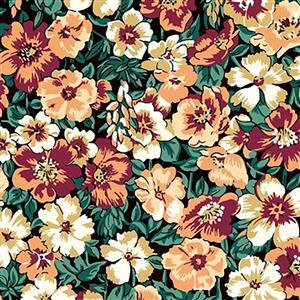 Liberty Orchard Garden Collection Sunset Peach Bloom Fabric 0.5m