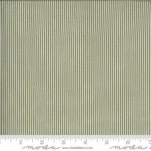 Moda Folktale Skinny Stripes Olive Fabric 0.5m