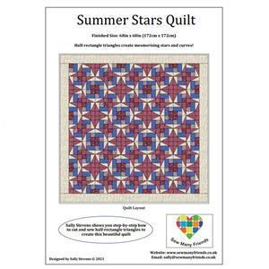 Sally Stevens Summer Stars Rectangle Quilt Instructions