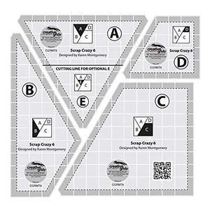 "Creative Grids® Non-Slip Scrap Crazy 15.2cm (6"") by Karen Montgomery"