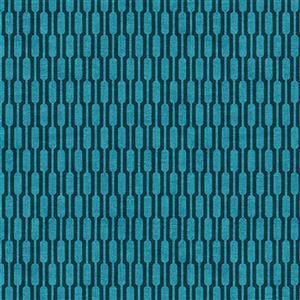 Rita Blue Tubes Fabric 0.5m
