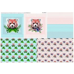 Baby Red Panda Panel by Becky Alexander-Frost (100x140cm) Exclusive to Sewing Street