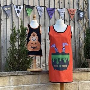 Allison Maryon's Mummy & Me Halloween Cross Back Apron Kit: Pattern & Halloween Panel