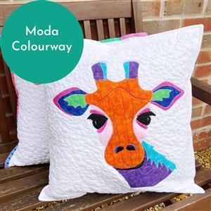 Delphine Brooks Gerry Giraffe Moda Applique Cushion Kit: Instructions, Design Roll & Fabric (0.5m)