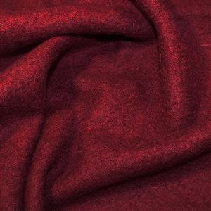 Wine Boiled Wool Fabric 0.5m