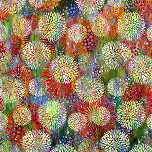 Jason Yenter Floragraphix V Autumn Dandelions Fabric 0.5m