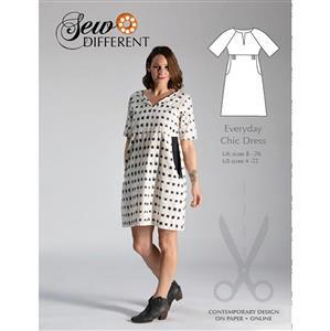 Sew Different - Everyday Chic Dress Pattern. Sizes 8-26