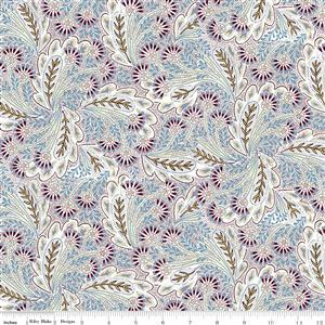 Liberty Summer House Collection in Purple Feather Dance Fabric 0.5m