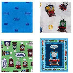 Riley Blake All Aboard With Thomas & Friends Green Bundle: Fabric Panel & Fabric (1.5m)