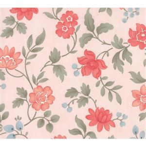 Moda Daybreak Morning Glory Blush on Pink Fabric 0.5m