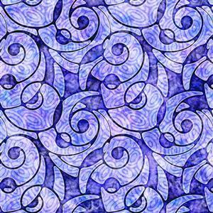 Dan Morris Adagio Purple Packed Swirl Fabric 0.5m