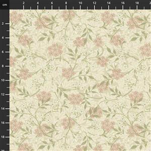 William Morris Granada in Jasmine Blush Fabric 0.5m