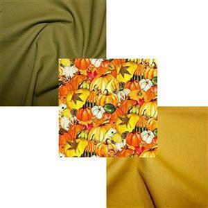 UNDER £15 Autumn Pumpkin and Squash Fabric Bundle (1.5m)