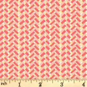 Liberty Cottage Garden Collection Orange Country Path Fabric 0.5m