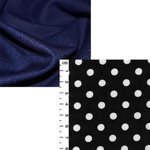 Navy Canvas Big Bag Fabric Bundle (2m)