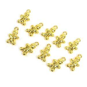 Gold Colour Base Metal Gingerbread Charms Approx 13x9mm 10 Pieces