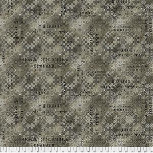 Tim Holtz Abandoned Faded Tile on Neutral Fabric 0.5m