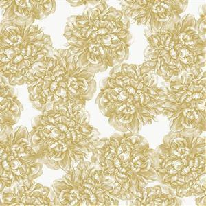 Riley Blake Castkata Classic Roses Gold Metallic Fabric 0.5m