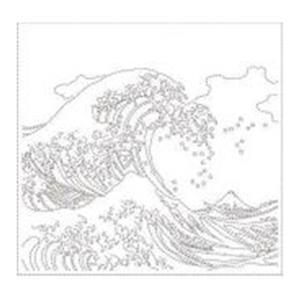 Hana-fukin Waves Ukiyoe White Fabric Pack