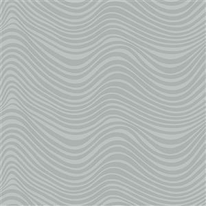 Libs Elliot Stealth Waves on Green Fabric 0.5m