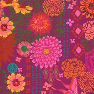 Moda Kasada Floral Purple Fabric 0.5m