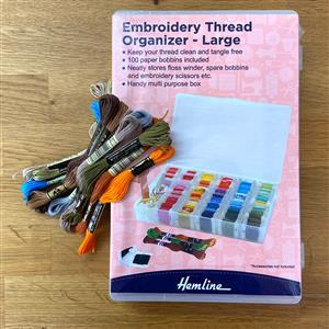 Large Embroidery Thread Organiser & 10 DMC Skeins.