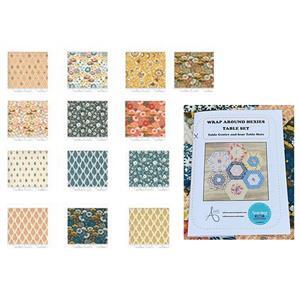Allison Maryon's Wrap Around Hexies Table Runner & Placemat Kit: Instructions & FQs (13pcs)