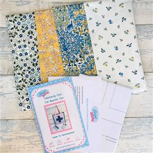 Living in Loveliness Fabulously Fast Fat Quarter Fun Issue 12 Sew Essential Liberty Mustard Blue