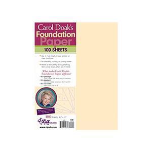 "Carol Doak's Foundation Paper 100 sheets 21.5cm x 28cm (8.5"" x 11"")"